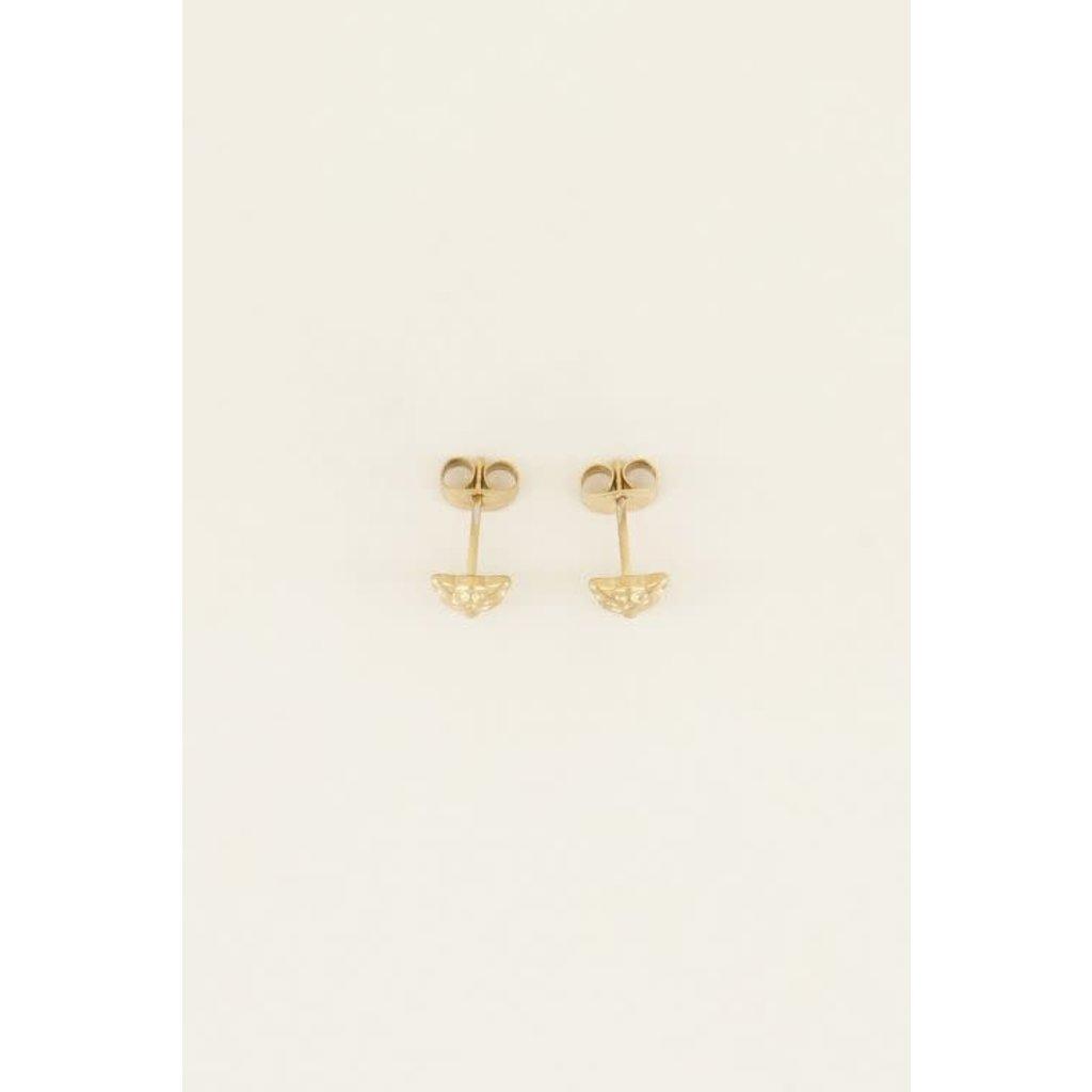 My Jewellery Studs luipaard goud