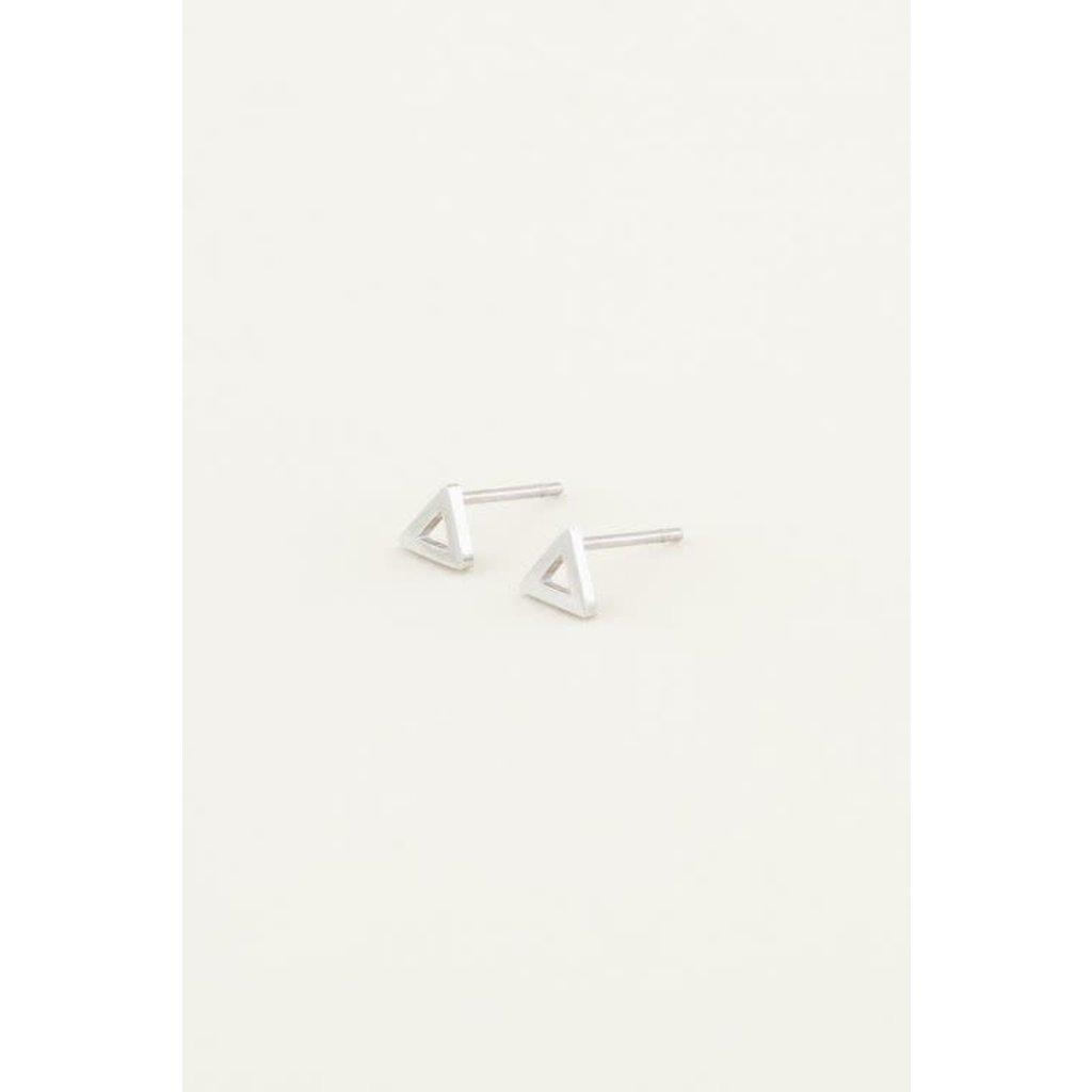 My Jewellery Studs open driehoek zilver