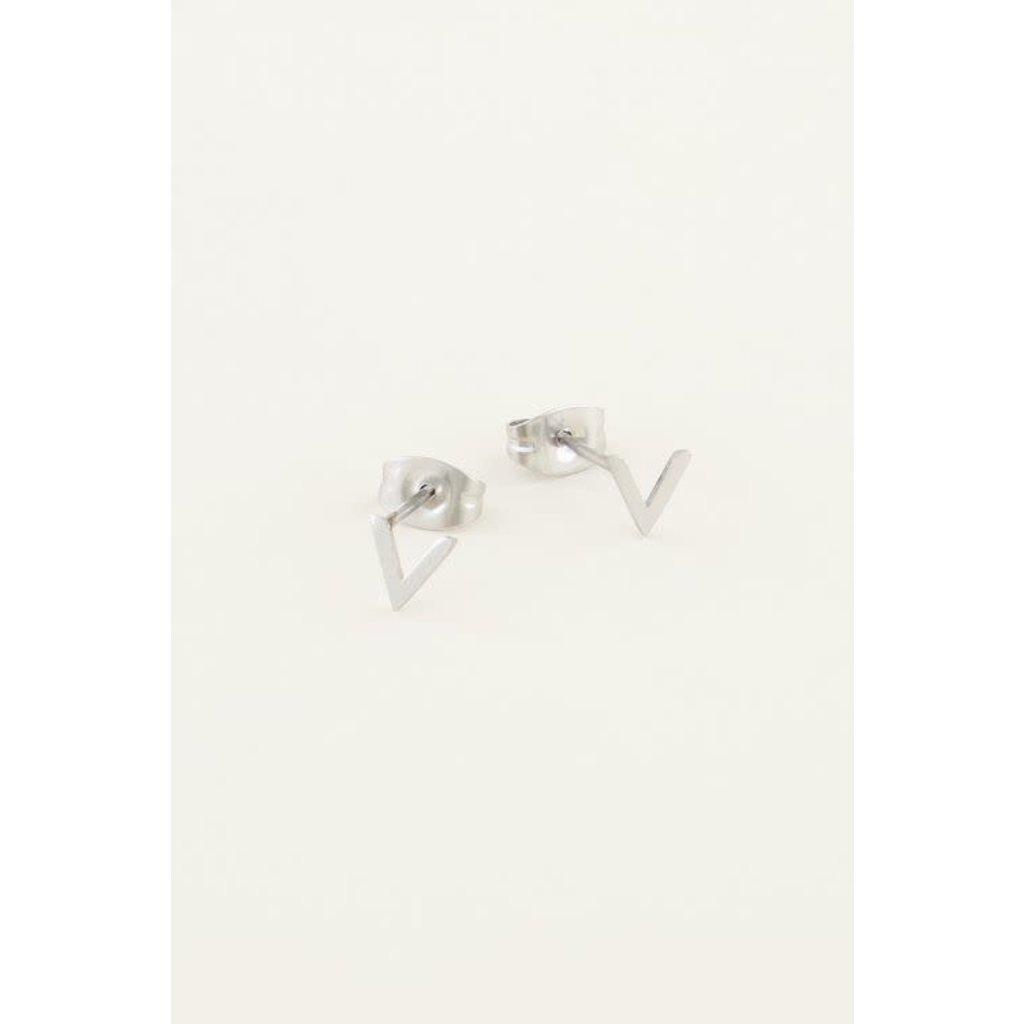 My Jewellery Studs met V-vorm zilver