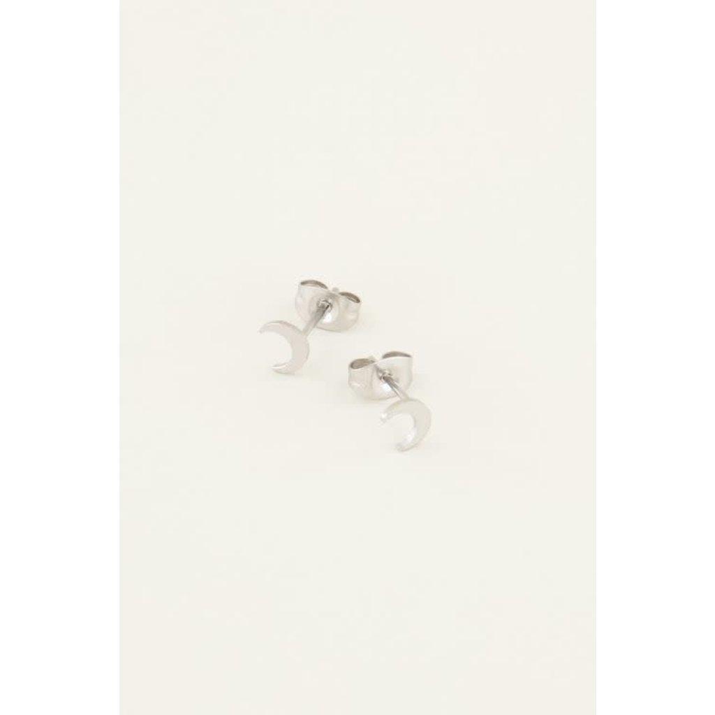 My Jewellery Studs maantje zilver