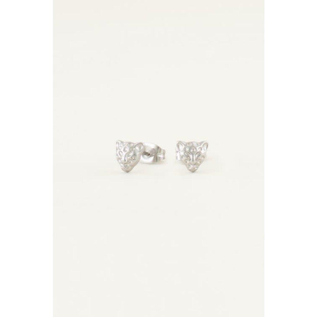 My Jewellery Studs luipaard zilver