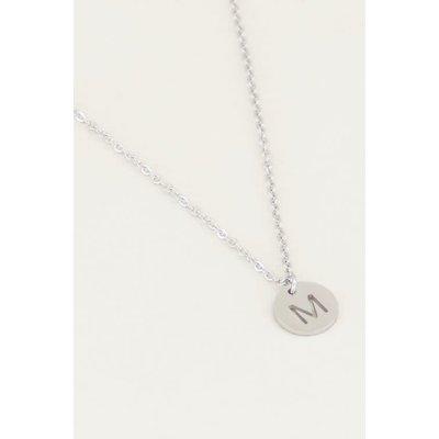 My Jewellery Initiaal ketting zilverkleurige bedel