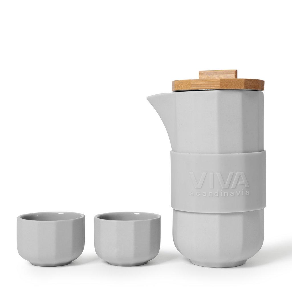 Viva Alexander™ tea set grijs