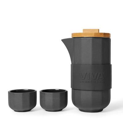 Viva Alexander™ tea set zwart