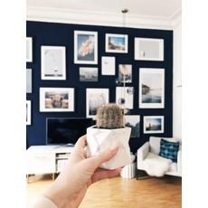 House Raccoon Palua Planter, Theelichthouder Ø 8,5 cm - White Marble