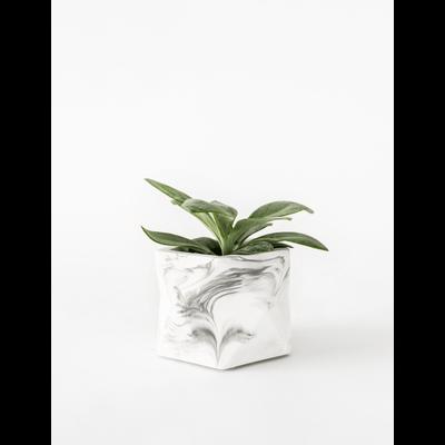 House Raccoon Palua Planter, Theelichthouder Ø 5,5 cm - White Marble