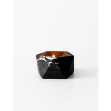 House Raccoon Theelicht / Airplant Houder - Black Marble