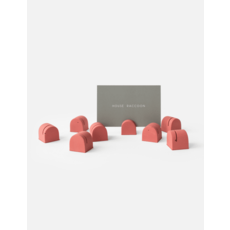 House Raccoon Bobby Kaarthouders (set van 8) - Pomegranate
