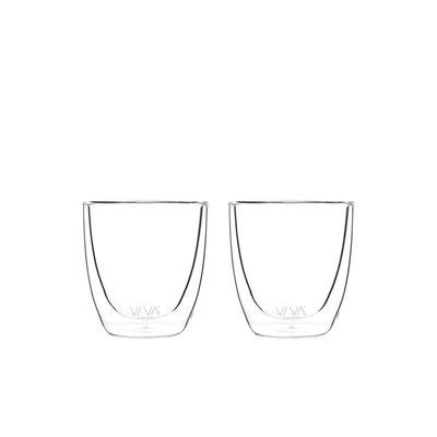 Viva Double walled glass 110ml set of 2