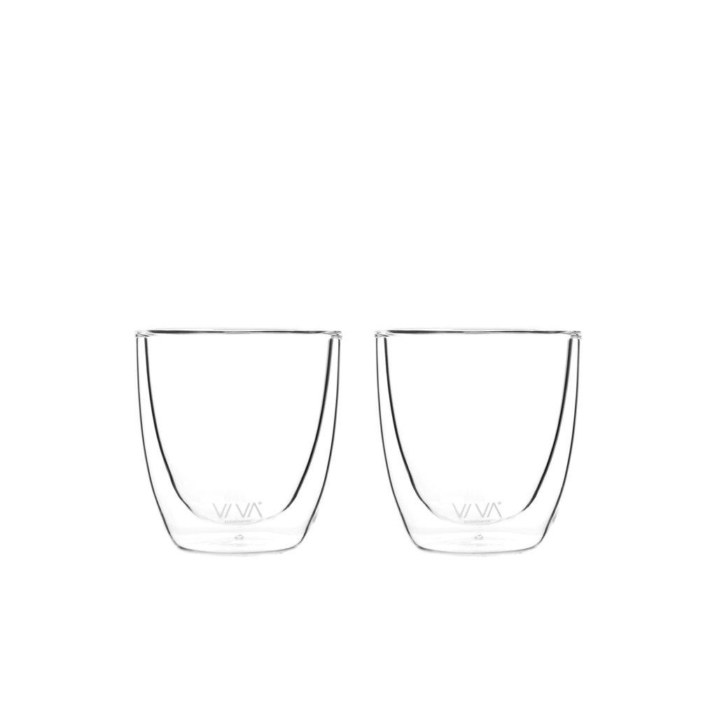 Viva Double walled glass 110ml set of 6