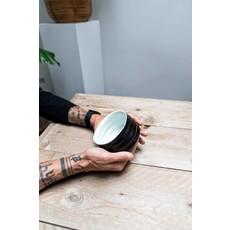 Café Couture Matcha bowl - ribble mat zwart/wit
