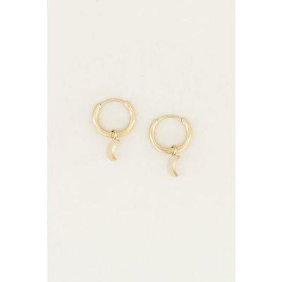 My Jewellery Oorringen met maantje goud