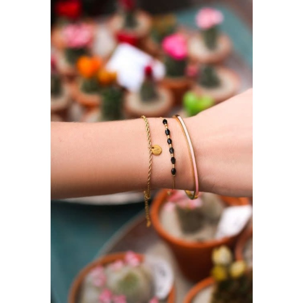 My Jewellery Goud kleurige armband met initiaal vintage