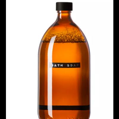 Wellmark Badzeep - bruin glas/zwart - 'bath soap'