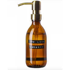 Wellmark Handzeep  - bruin glas/messing -  You look awesome 250 ml