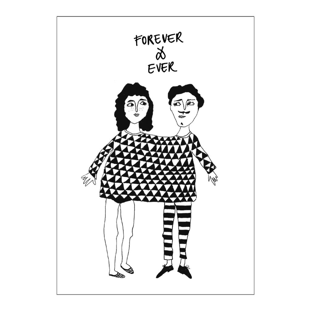 HelenB Wenskaart |  forever & ever happy together