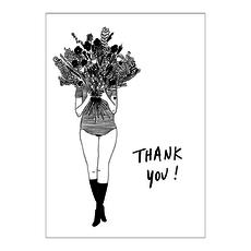 HelenB Wenskaart |  thank you flower girl