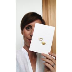 Petit Pourri Letterpress wenskaart Twinning Mini-hearts
