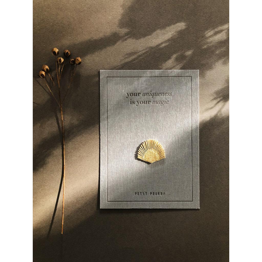 Petit Pourri Letterpress wenskaart Golden Sunbrust