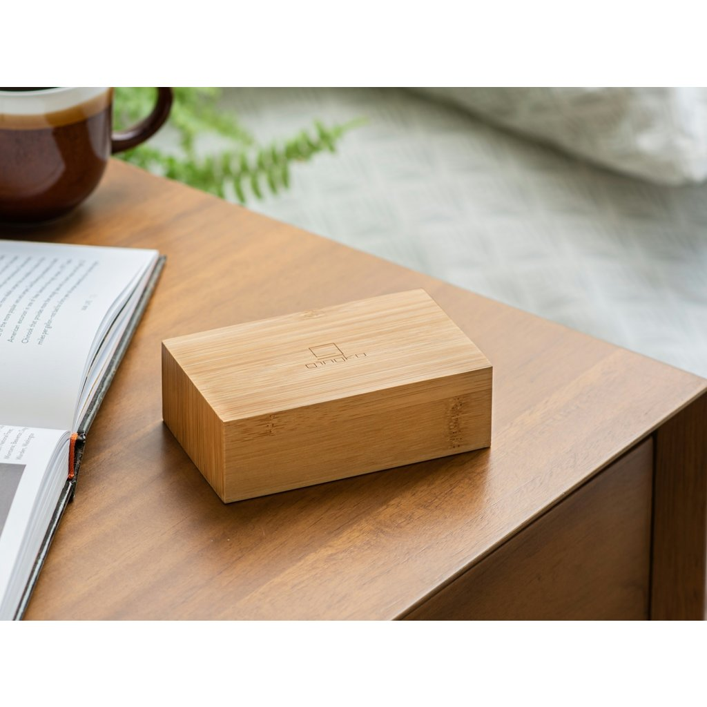 Gingko Flip Click Clock Bamboo