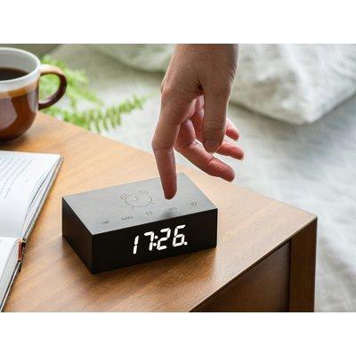 Gingko Flip Click Clock Zwart
