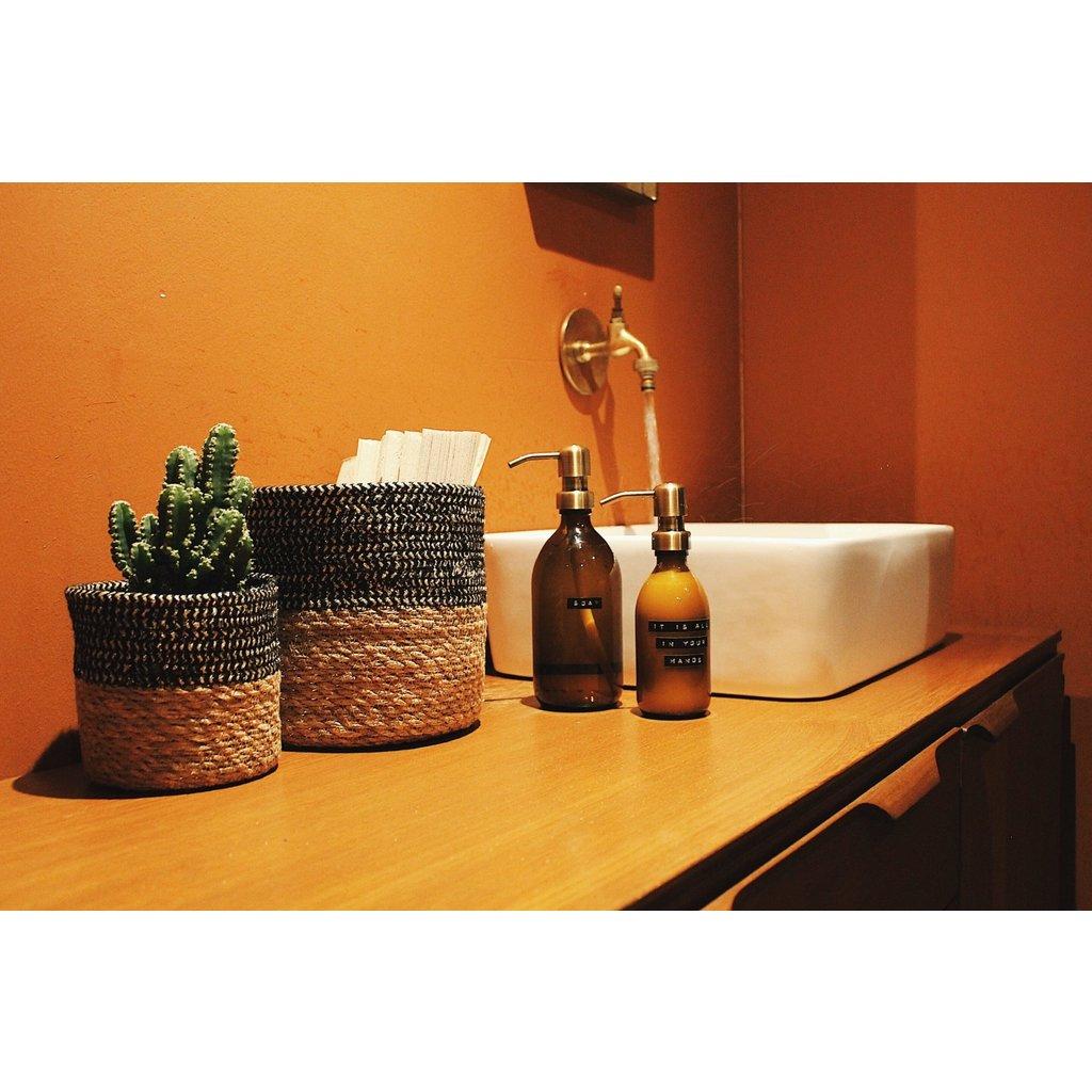 Wellmark Handcrème Aloë Vera-250ml bruin glas messing- Soft Hands Start Here