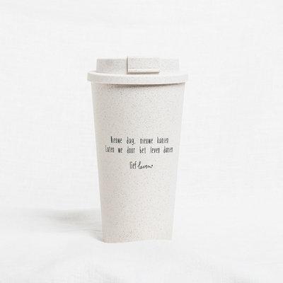 Lief Leven Koffie to go beker | Nieuwe dag, nieuwe kansen
