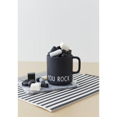Design Letters Favoriete beker met handvat You Rock