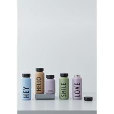 Design Letters Thermo/Geïsoleerde fles, Smile