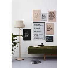 Design Letters Design Letters Letter Board A3 Zwart