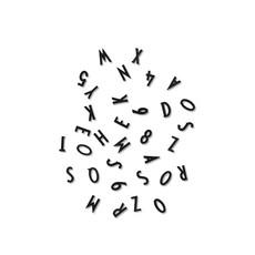 Design Letters Klein letters en cijfers voor Boards Zwart
