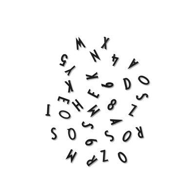 Design Letters Kleine letters en cijfers voor Boards Zwart