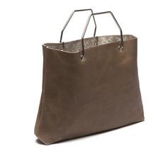 Keecie Lichtbruine leren shopper tas, Window Shopper, Moss used look