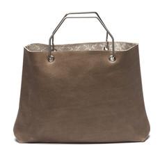 Keecie Keecie Lichtbruine leren shopper tas, Window Shopper, Moss used look