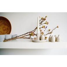 Mookstories Mookstories Kandelaar met vaasje - handmade