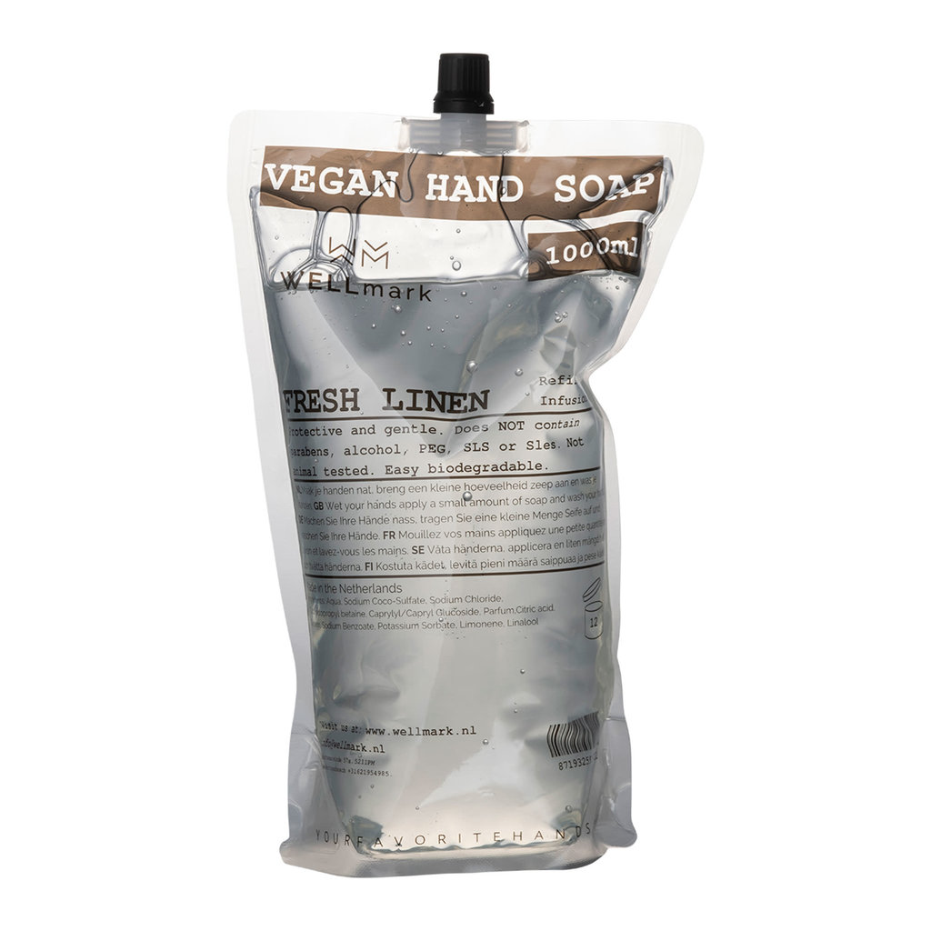Wellmark Handzeep navulling Fresh Linnen 1L