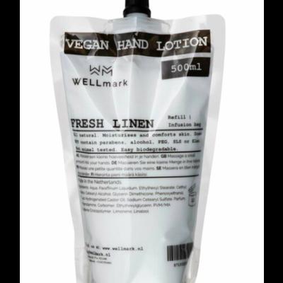 Wellmark Handcrème navulling Fresh Linnen 500ml
