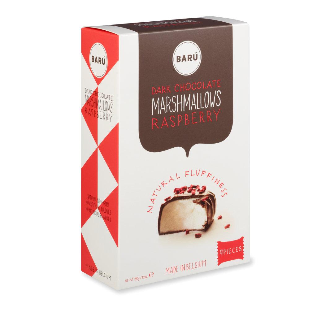 Baru Marshmallows Dark Chocolate with Raspberry