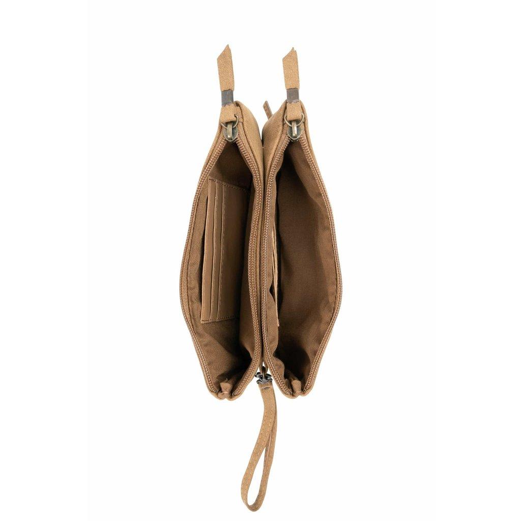 Zusss Dubbele portemonnee kaki