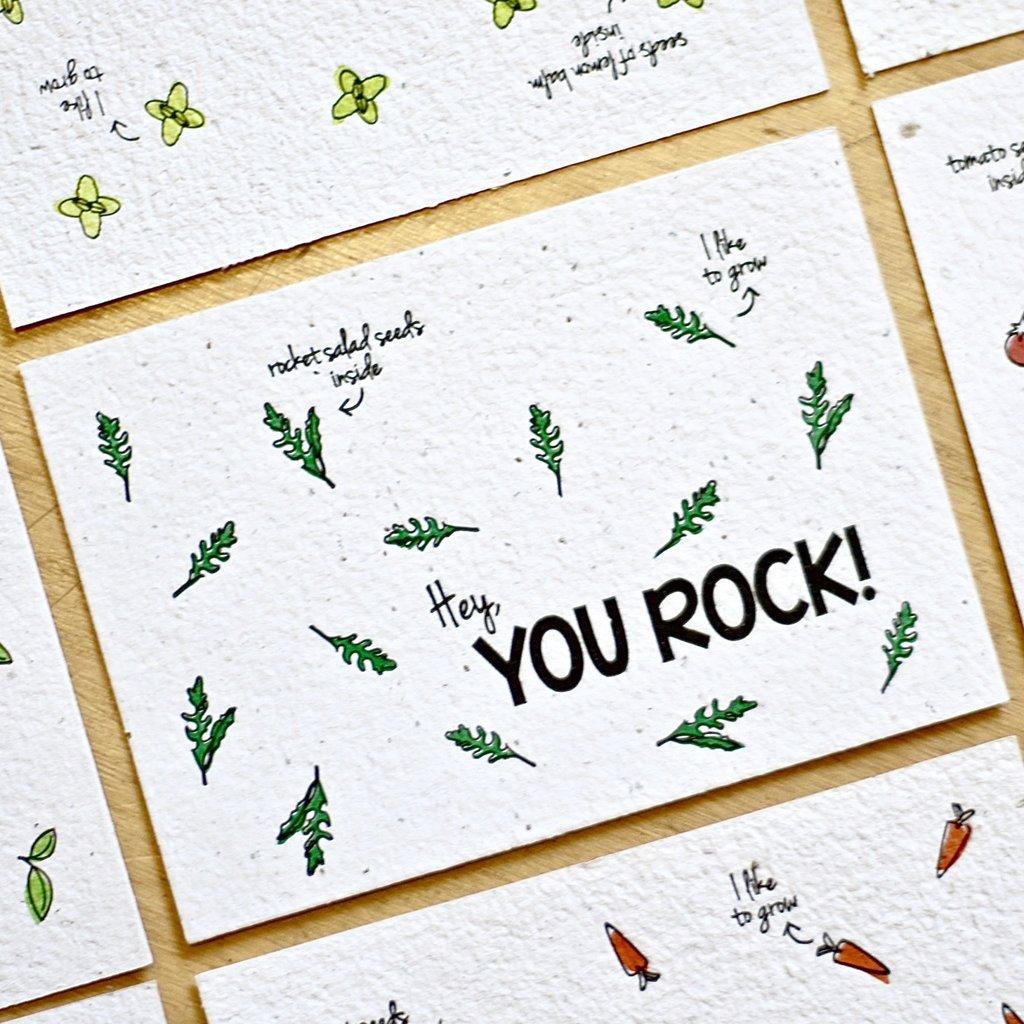 Bloom your message Bloom your message Bloeikaart: You Rock - Rocket salad