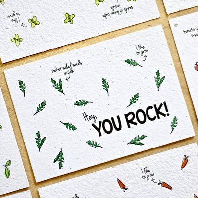 Bloom your message Bloeikaart: You Rock - Rocket salad
