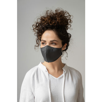 Zusss Stoffen mondkapje zwart