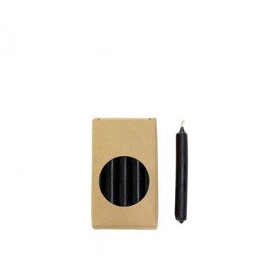 RL Potloodkaarsjes Zwart 1,2 x 10 cm