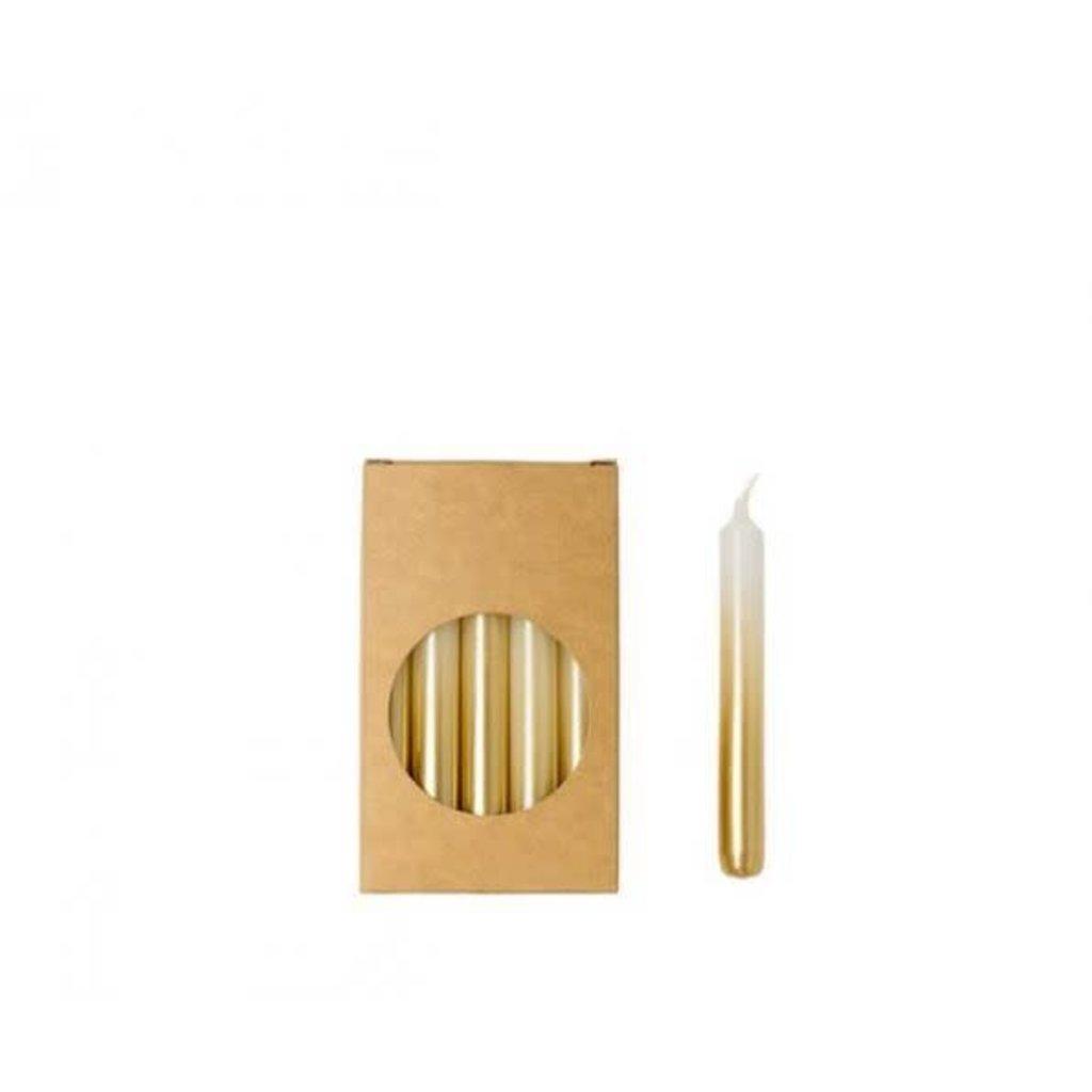RL Potloodkaarsjes  wit/goud 1,2 x 10 cm
