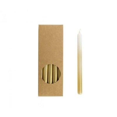 RL Potloodkaarsjes wit/goud 1,2 x 17,5 cm