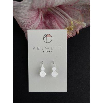 Katwalk Silver Oorbellen hangers rondjes zilver