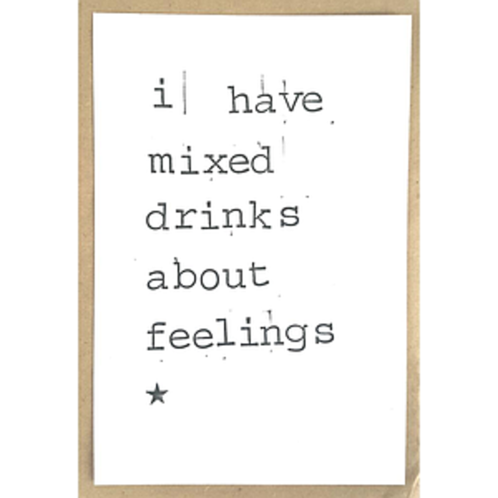 Postkaarten By Mar I have mixed drinks