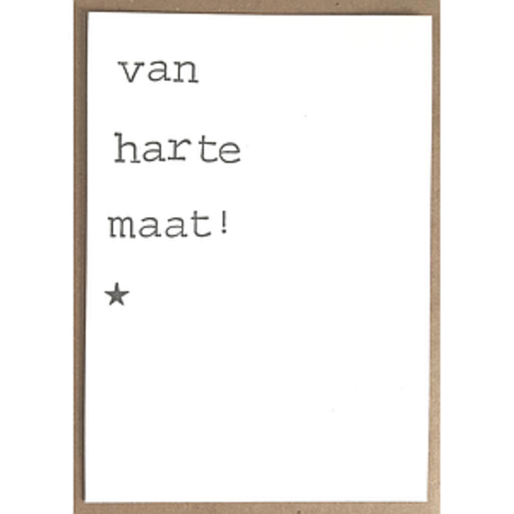 Postkaarten By Mar Van harte maat