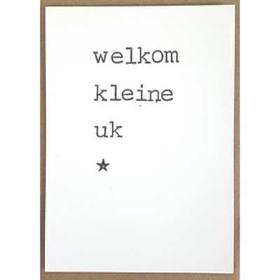 Postkaarten By Mar Welkom klein uk