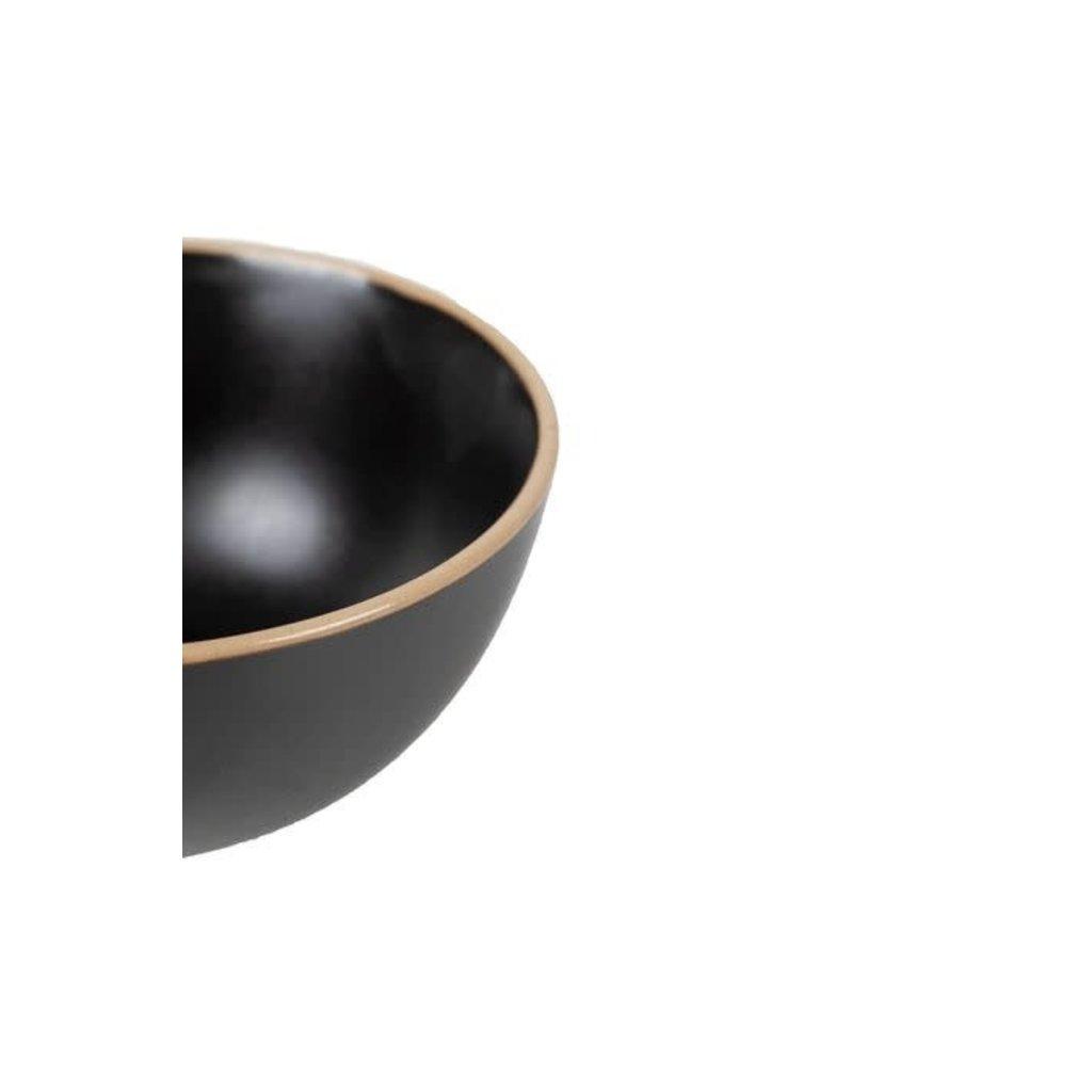 Zusss Kom aardewerk zwart